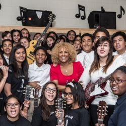 Darlene Love Delivers Instruments to Jersey City School