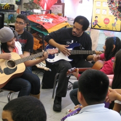 Jon E. Gee Adds Bass to NYC Little Kids Rock Class