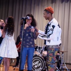 Pharrell Surprise Performance with Amp Up NYC Students