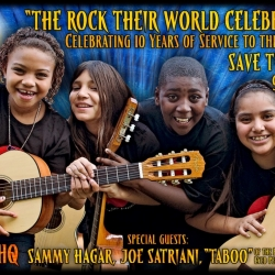 Sammy Hagar, Joe Satriani and Black Eyed Peas' Taboo Celebrate Little Kids Rock's 10th Anniversary