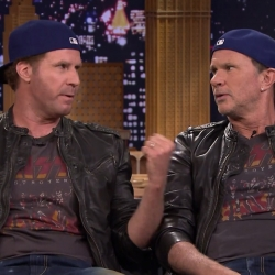 Epic drum-off between Chad Smith and Will Ferrell on Tonight Show with Jimmy Fallon raises money for charity