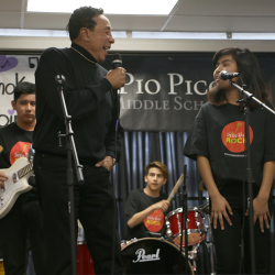 Smokey Robinson Performs with Pio Pico Students and Presents $1M Niagara Cares Donation
