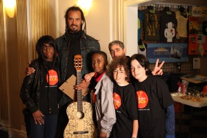 Michael Franti with LKR students