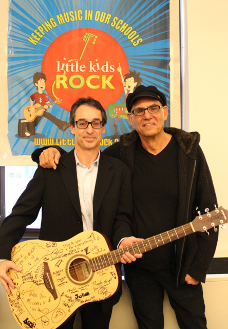 Les Paul Foundation Executive Director Michael Braunstein and Longtime drummer for Billy Joel, Liberty DeVitto