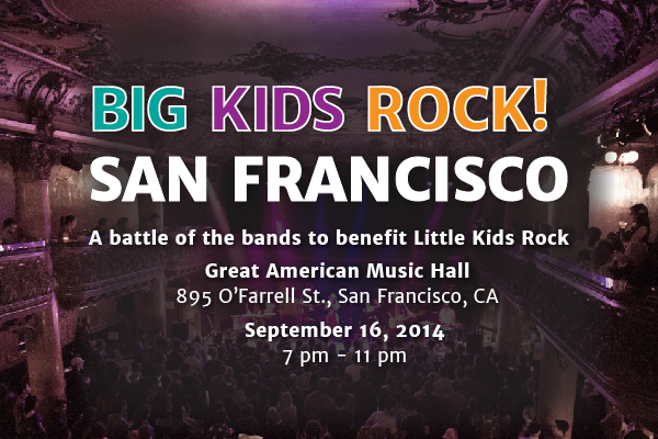 Big Kids Rock! Battle of the Bands, SF, 2014