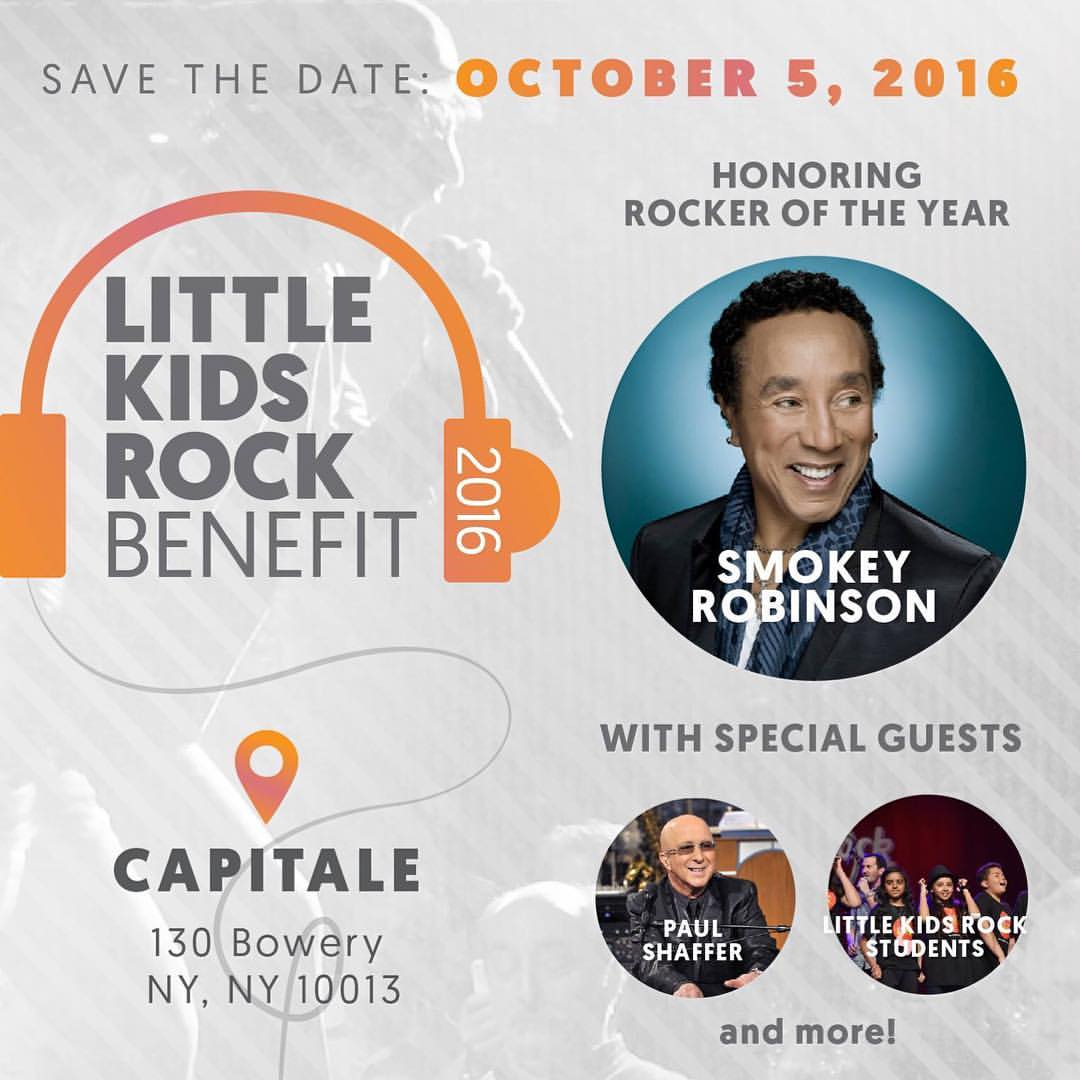 2016 Little Kids Rock Benefit, honoring Smokey Robinson
