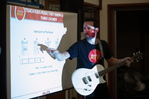 Little Kids Rock trainers instruct public school teachers how to teach Modern Band.
