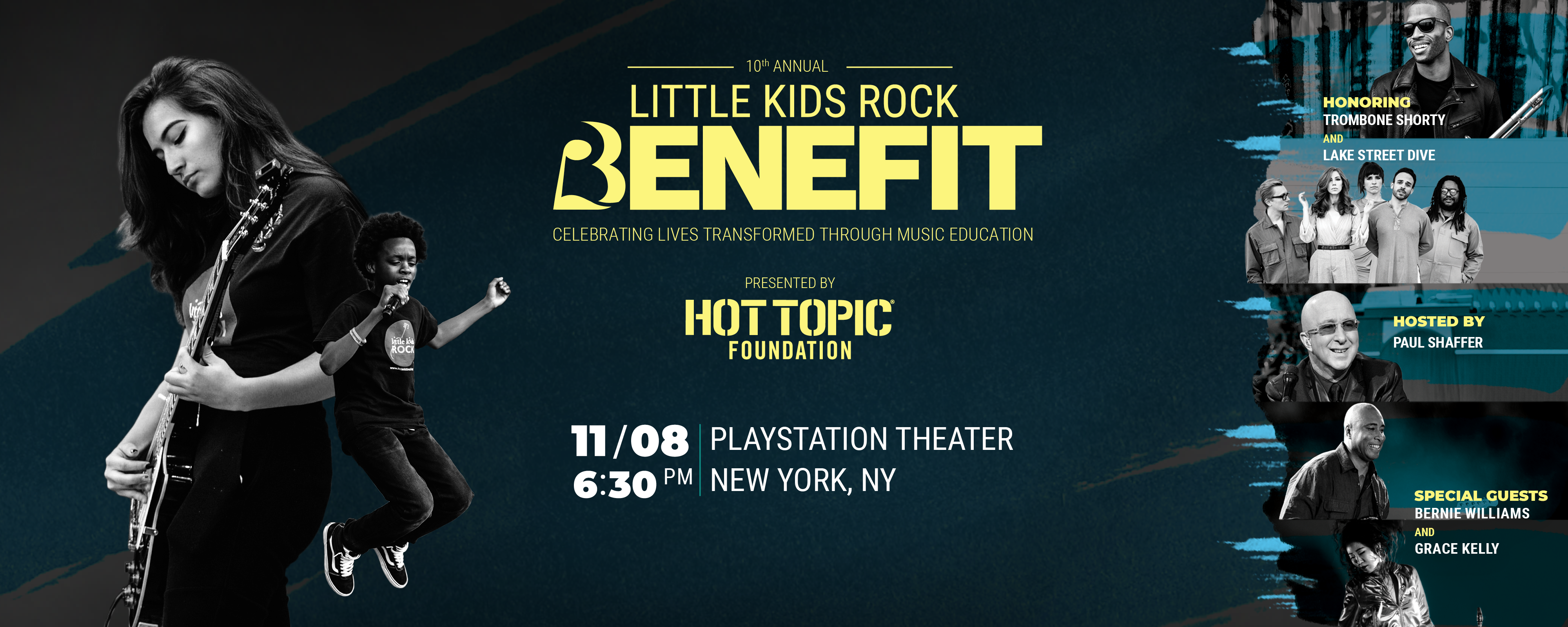 November 8, 2018 - 10th Annual Little Kids Rock Benefit